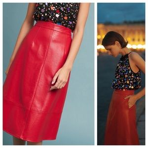 HTF NWT ANTHROPOLOGIE Dauphine Faux Leather Skirt